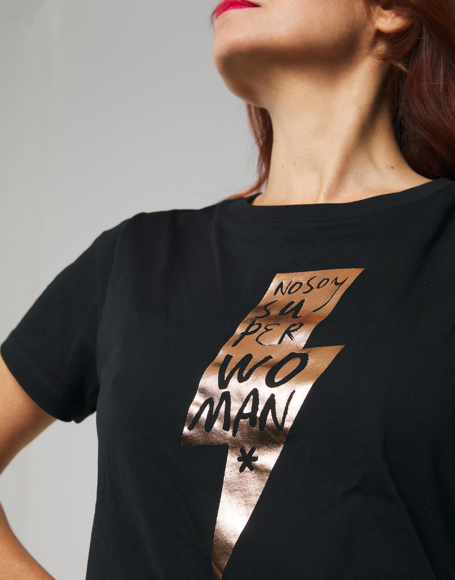 Camiseta rayo negra