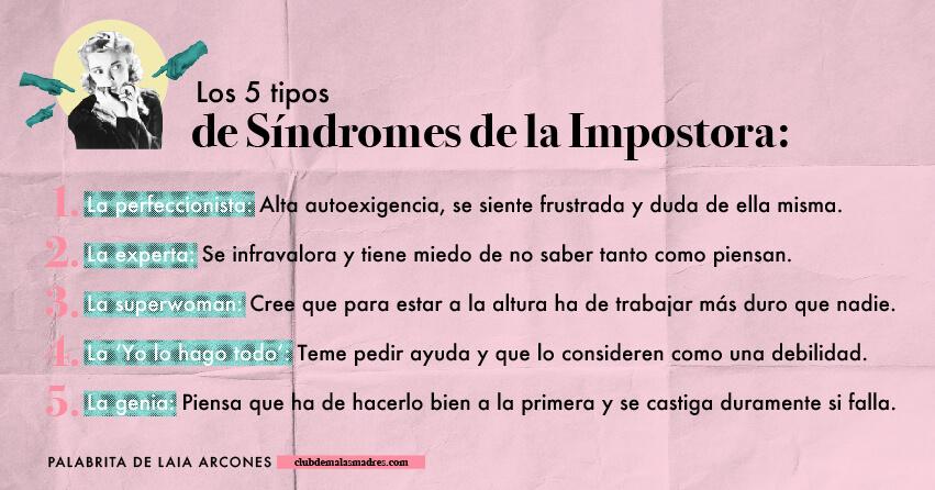5 tipos de síndrome impostora