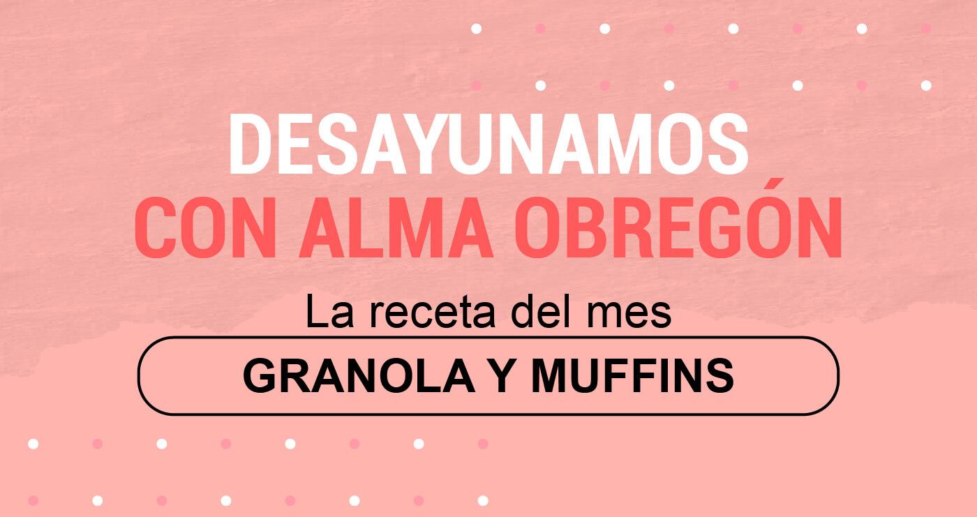 Granola y muffins