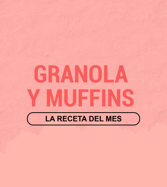 receta de granola con muffins