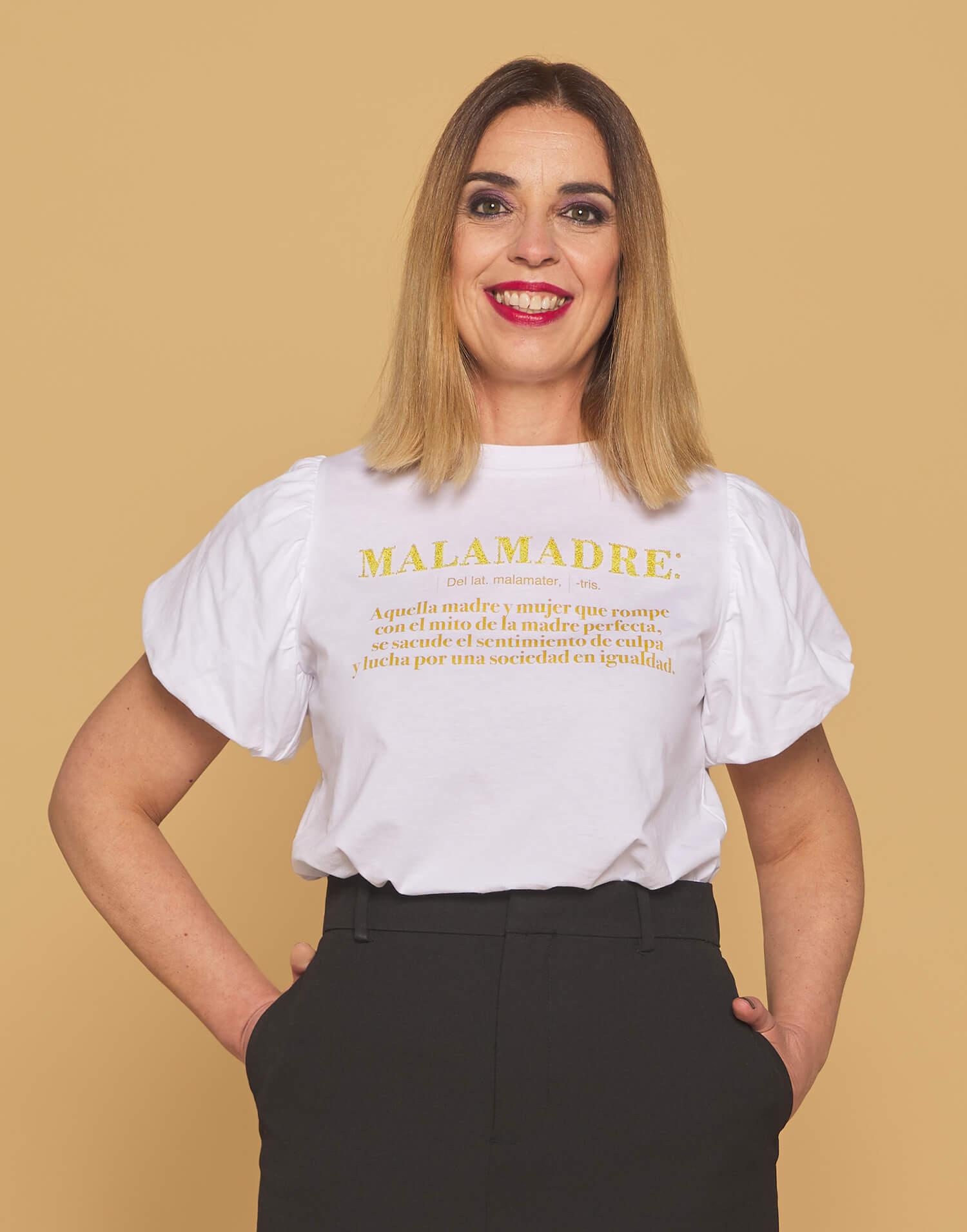 """Camiseta blanca definición """"Soy Malamadre"""""""