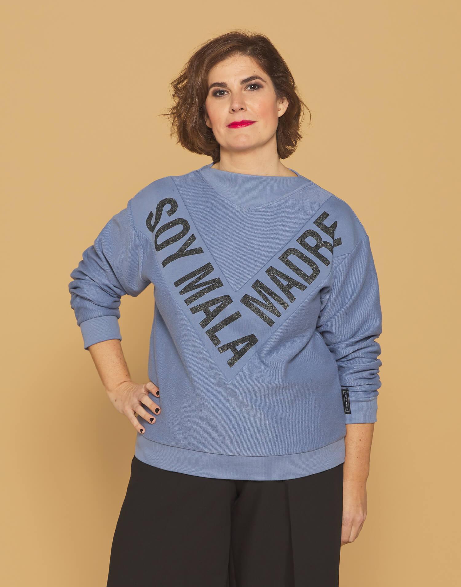 "Sudadera azul ""Soy Malamadre"""