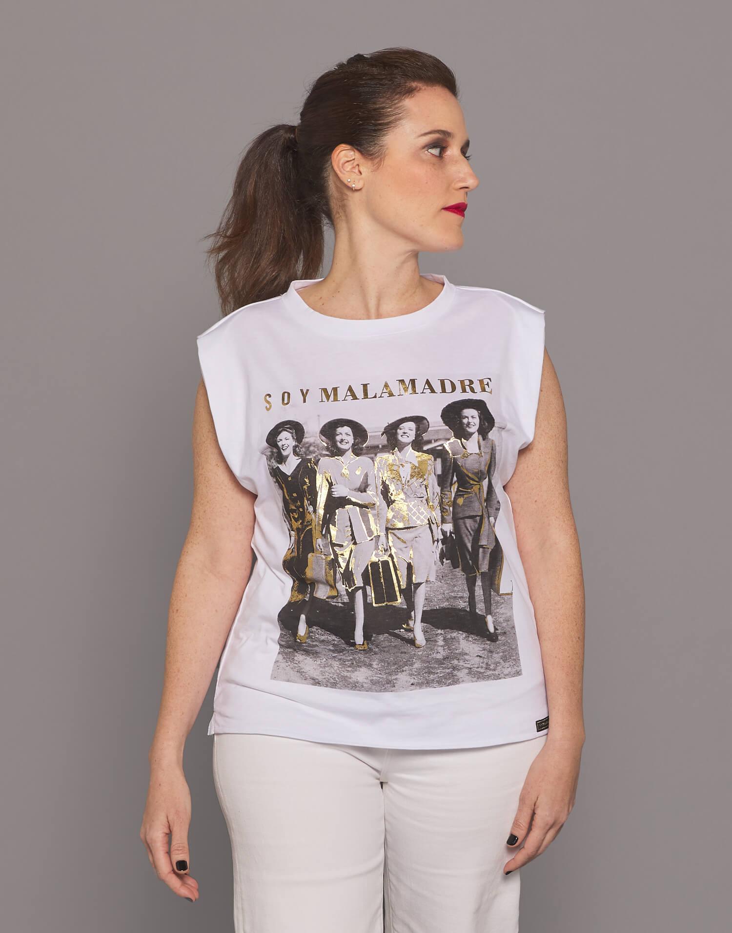 "Camiseta blanca fotográfica ""Soy Malamadre"""