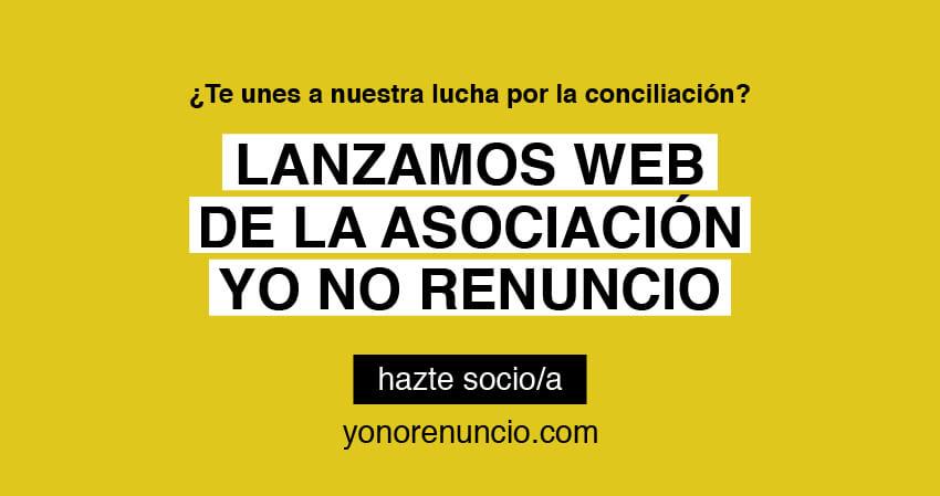Nueva web asociación Yo no renuncio