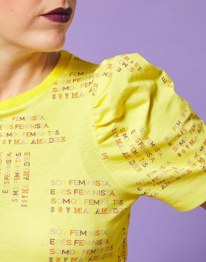 Camiseta amarilla soy feminista