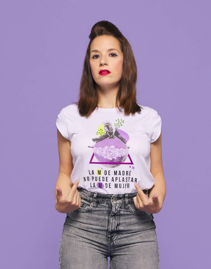 Camiseta M de mujer y M de madre