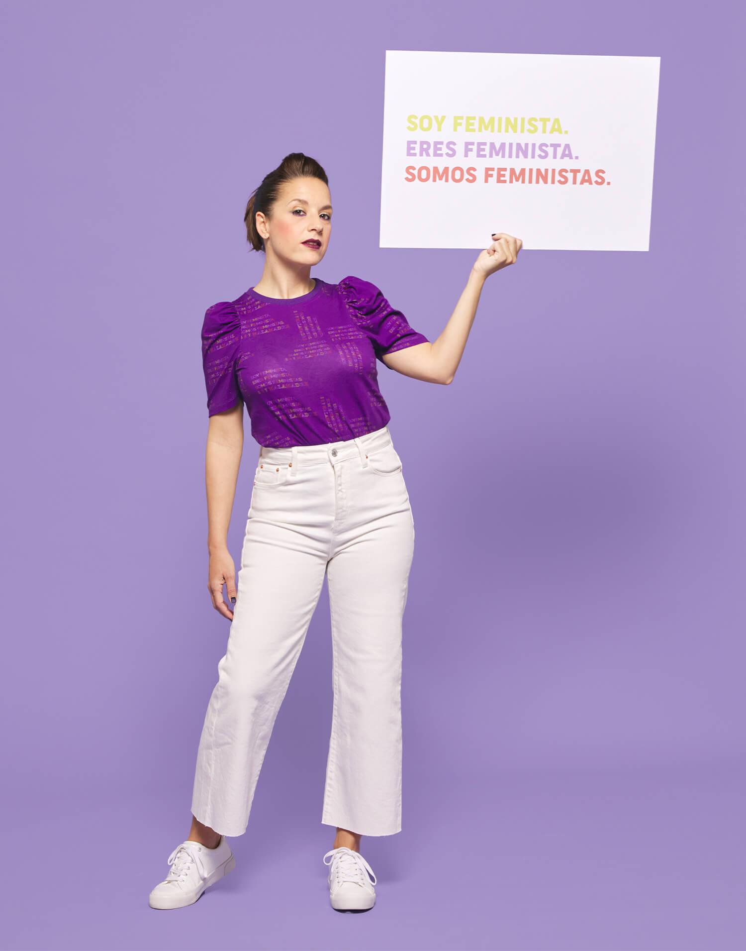 Camiseta morada 'Somos feministas'