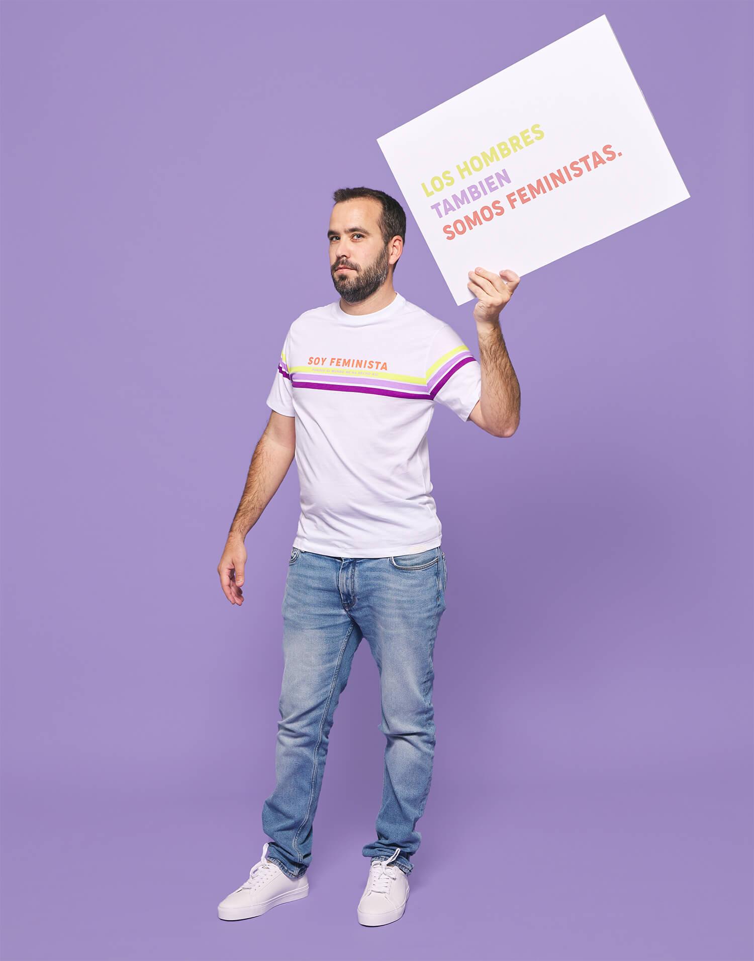 Camiseta hombre 'Soy feminista'