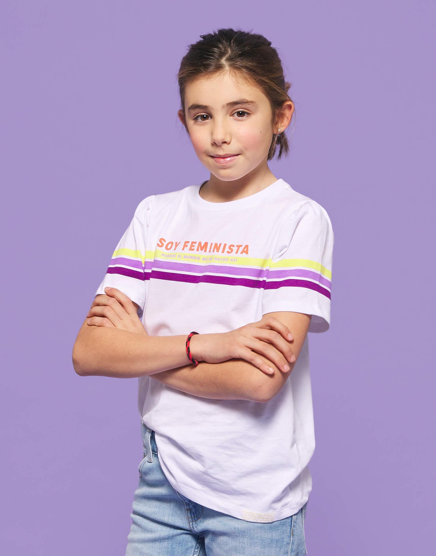 Camiseta niña 'Soy feminista'