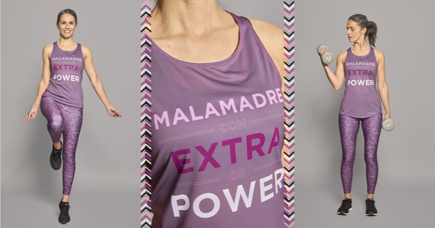 Camiseta tirantes 'Malamadre Power'