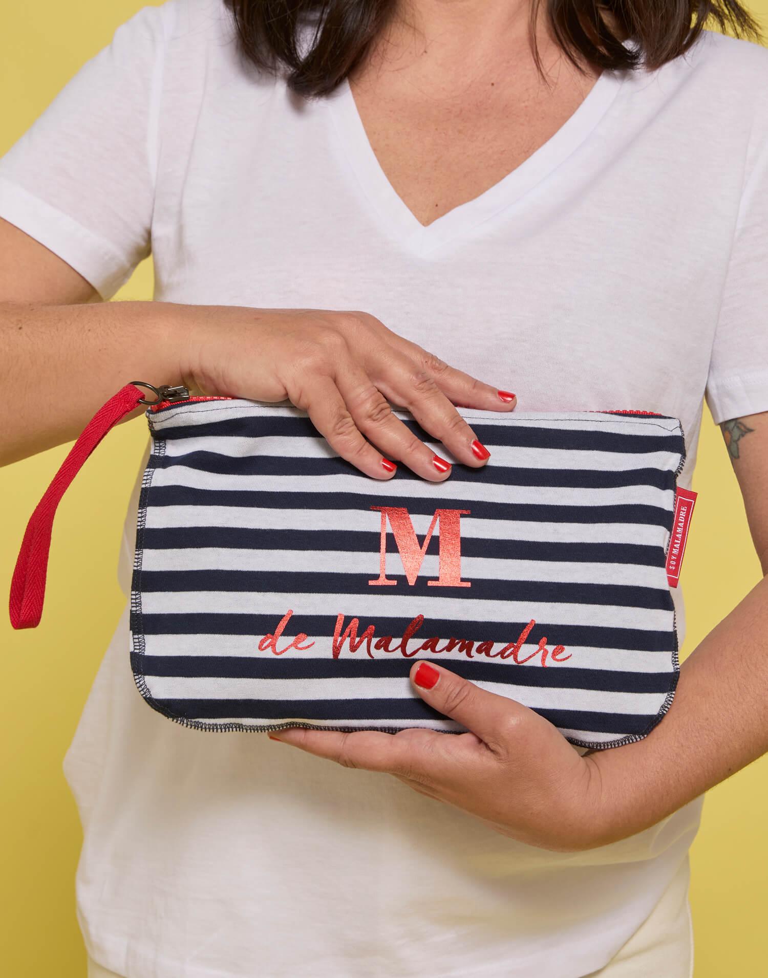 Bolso de mano de rayas Tierrasanta