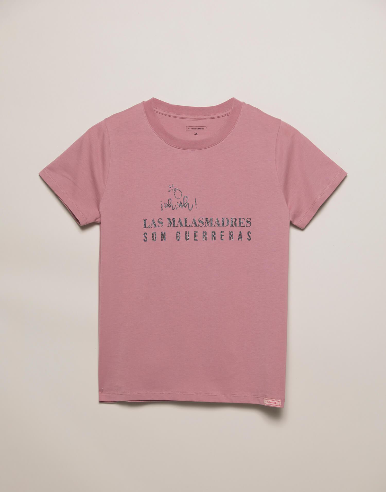 Camiseta rosa 'Las Malasmadres son guerreras'