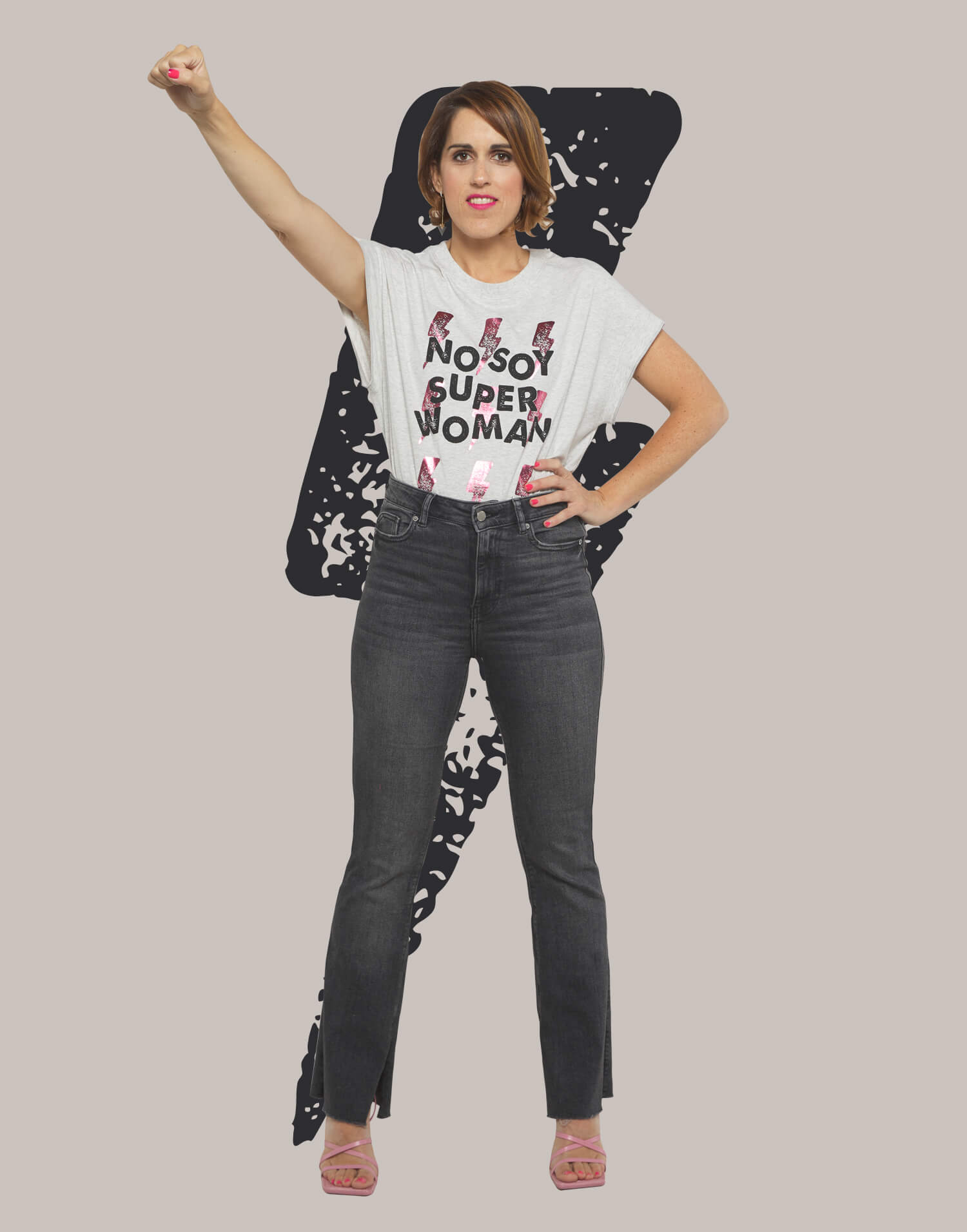 Camiseta rayos No Soy Superwoman