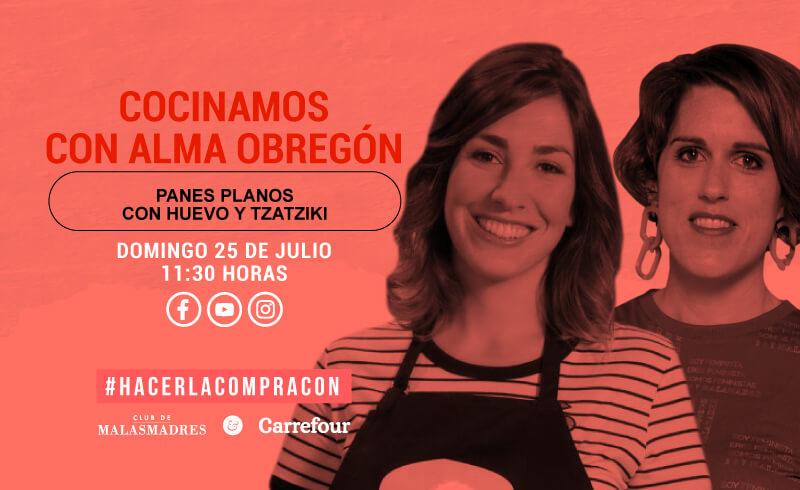 Cocinamos con Alma Obregón: panes planos con huevo y tzatziki