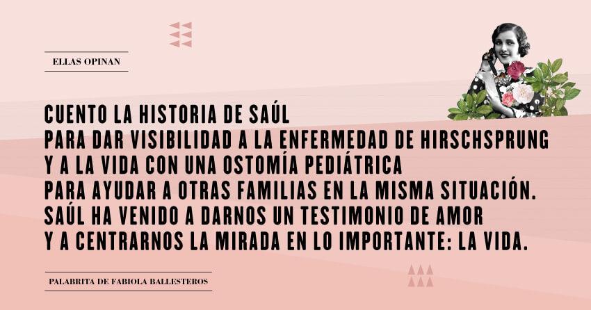 La historia de Saúl: la enfermedad de Hirschsprung
