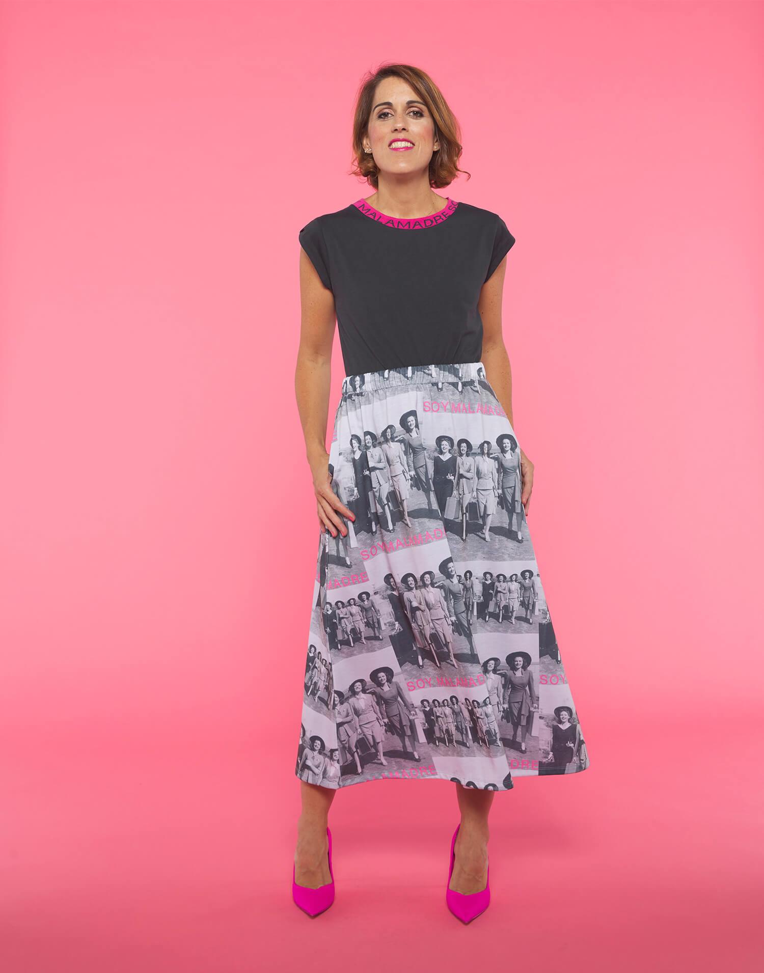 Falda fotográfica Soy Malamadre
