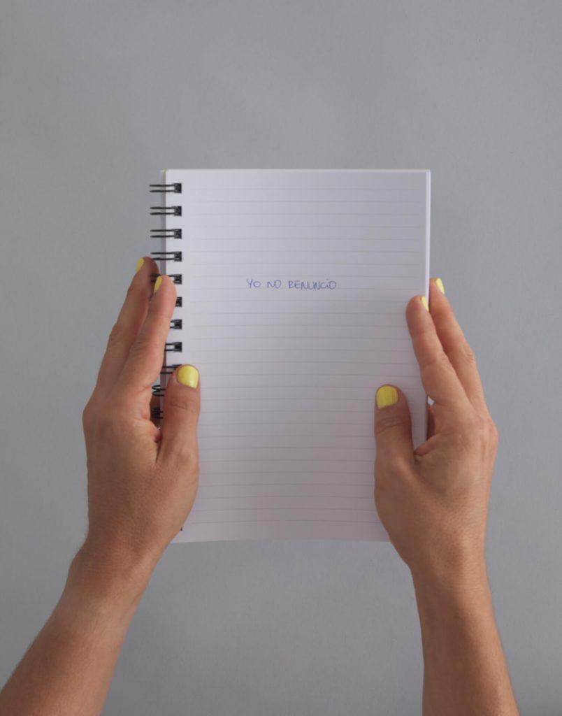 Cuaderno amarillo Yo No Renuncio