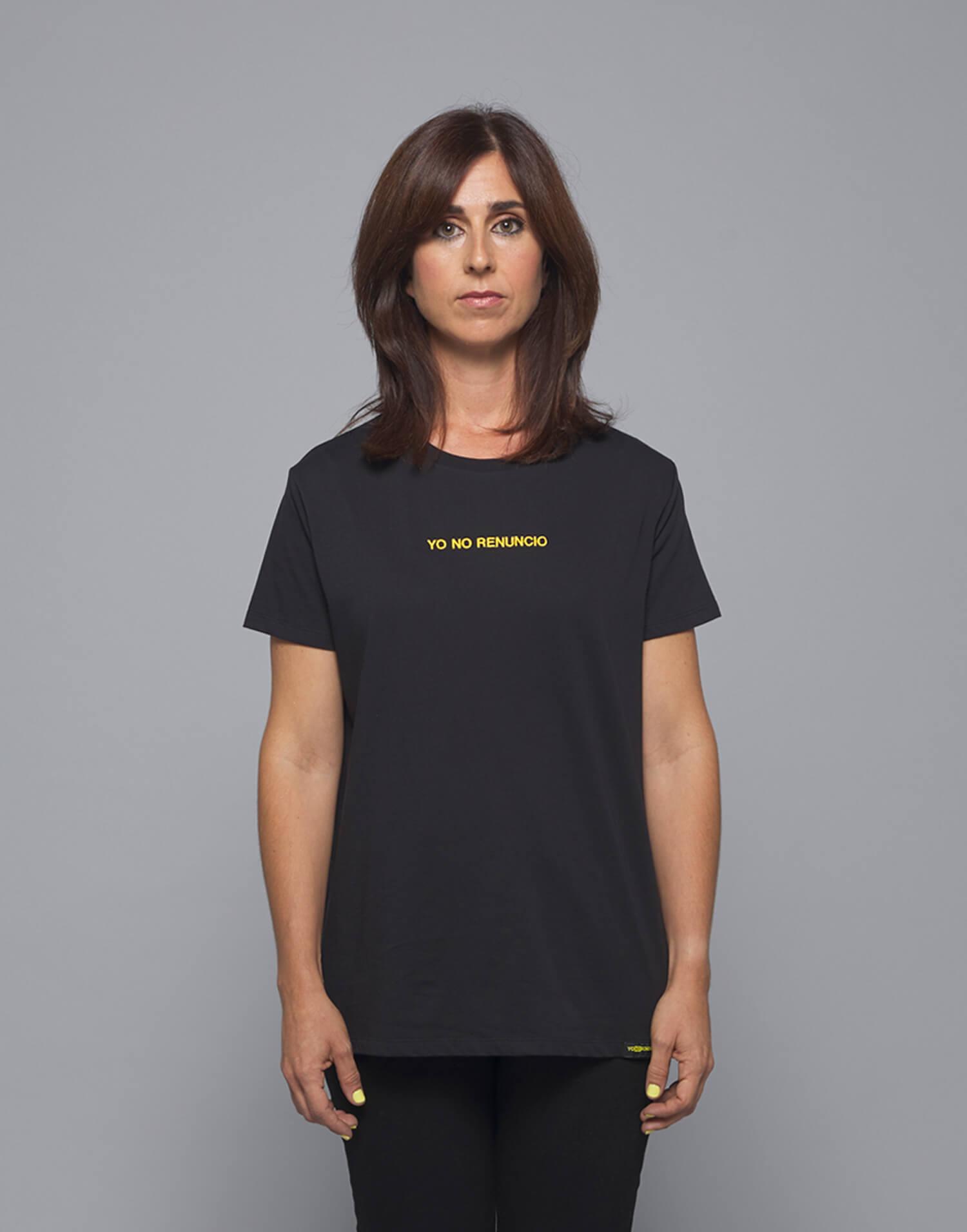 Camiseta negra Malamadre Yo No Renuncio